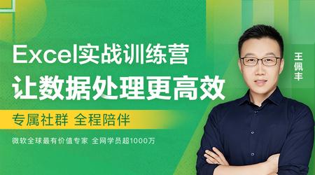 【送训练营】王佩丰Excel实战课,大数据时代,Excel数据处理是必备技能