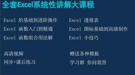 Excel最全学习教程,Excel系统学习大课程