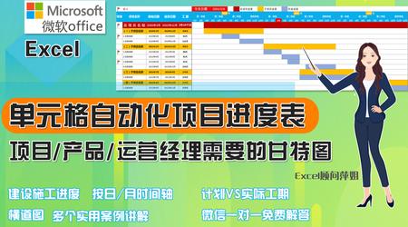 Excel项目管理自动可视化进度表